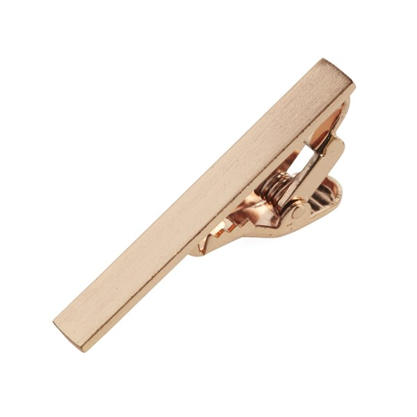 Rose Gold Brushed Straight Tie Bar