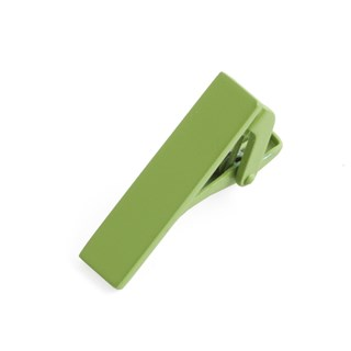 matte color apple green tie bar