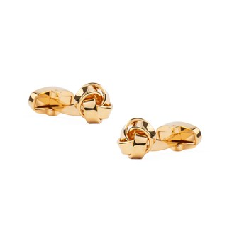 Loose Knots Gold Cufflinks