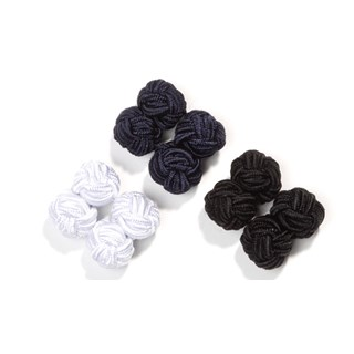silk knots navy cufflinks