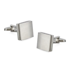 Silver Textured Sweep Cufflinks