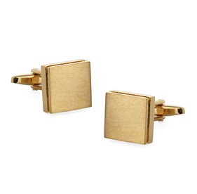 Gold Textured Sweep Cufflinks