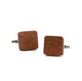Brown Woodgrain Cufflinks