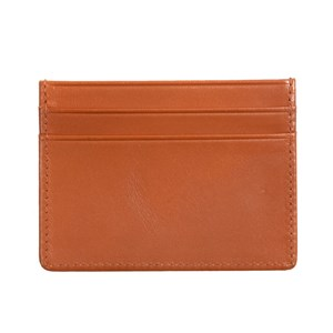leather card holder brown gifting