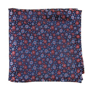 milligan flowers navy pocket square