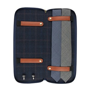 travel tie storage case navy gifting