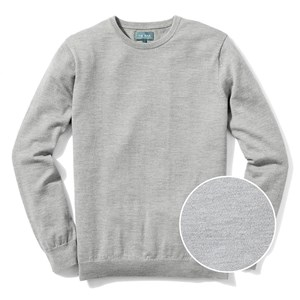 perfect merino wool crewneck heather grey sweater