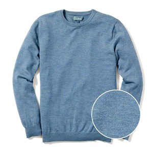 perfect merino wool crewneck heather blue sweater