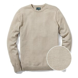 perfect merino wool crewneck heather oat sweater