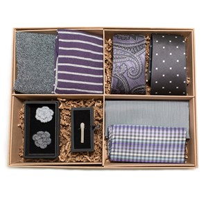 the grey and purple style box grey gift set