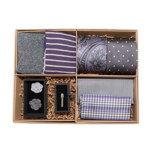 The Grey And Purple Style Box Gift Set