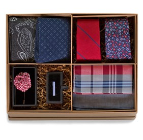 The Red And Navy Style Box Red Ties