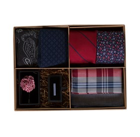 Red The Red And Navy Style Box ties