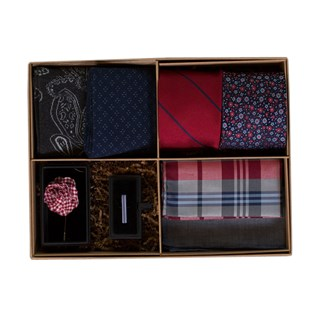 the red and navy style box red gift set