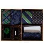 Ties - The Green And Navy Style Box - Green