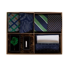 Green The Green And Navy Style Box ties
