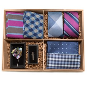 The Azalea And Navy Style Box Azalea Ties
