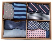 Bow Ties - The Pink And Navy Style Box - Pink