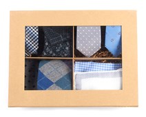Ties - THE BLUES + Grey STYLE BOX - BLUES
