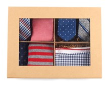 Ties - THE RED + NAVY STYLE BOX - RED