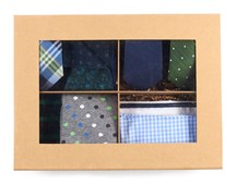 Ties - THE GREEN + NAVY STYLE BOX - GREEN