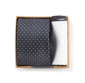 Ties - Charcoal Grey Tie Box - Charcoal