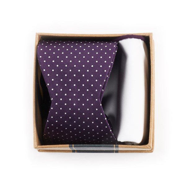 Eggplant Bow Tie Box Gift Set