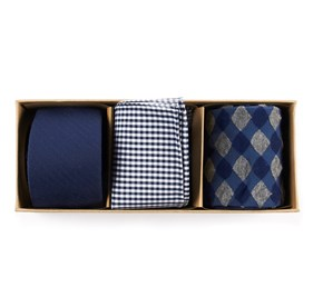 Navy Basic Navy Gift Set ties
