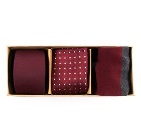 Burgundy Basic Burgundy Gift Set ties