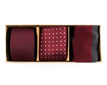 Ties - Basic Burgundy Gift Set - Burgundy