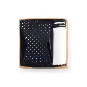 black bow tie box black gift set