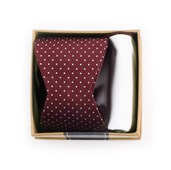 BOW TIES - BURGUNDY BOW TIE BOX - BURGUNDY