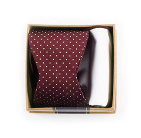 Burgundy Bow Tie Box Burgundy Bow Ties