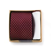TIES - BURGUNDY TIE BOX - BURGUNDY