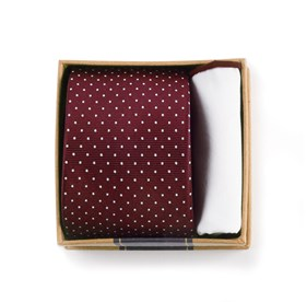 Burgundy Burgundy Tie Box ties
