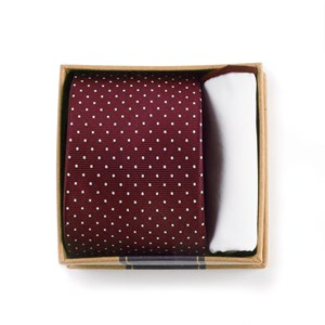 burgundy tie box burgundy gift set