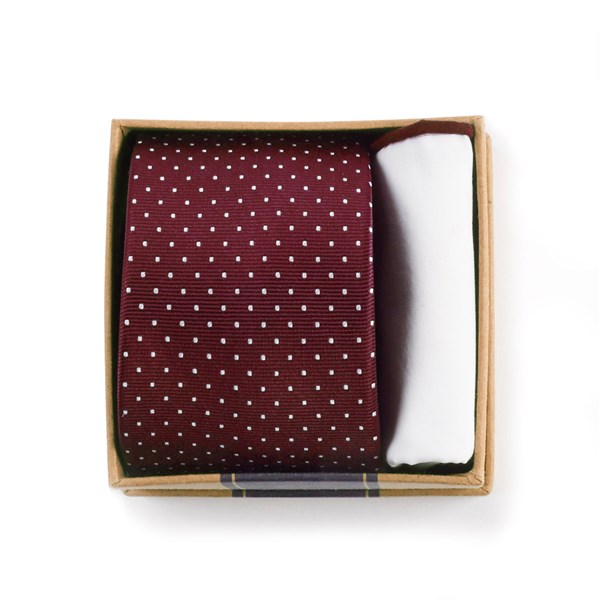 Burgundy Tie Box Gift Set