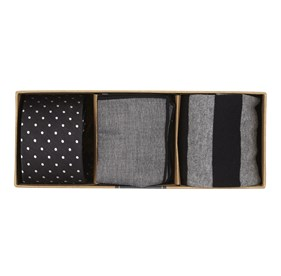 Black Dotted Dots Gift Set ties