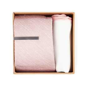 Bhldn Blush Solid Gift Set Blush Ties