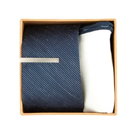 Bhldn Navy Solid Gift Set Navy Ties