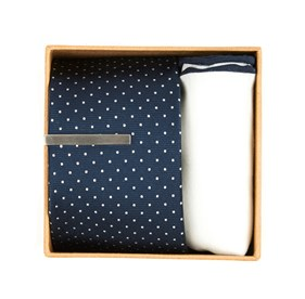 Bhldn Navy Dot Gift Set Navy Ties