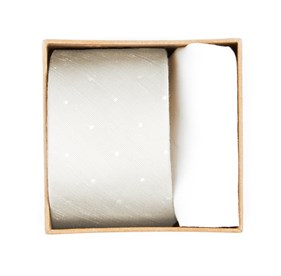 Ivory Bulletin Dot Tie Box ties