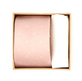 Blush Pink Bulletin Dot Tie Box ties