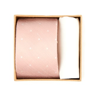 bulletin dot tie box blush pink gift set