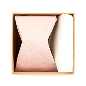 bulletin dot bow tie box blush pink gift set