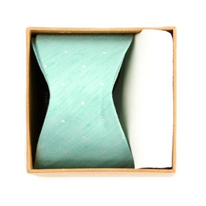 bulletin dot bow tie box spearmint gift set