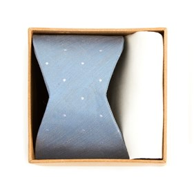 Slate Blue Bulletin Dot Bow Tie Box bow ties