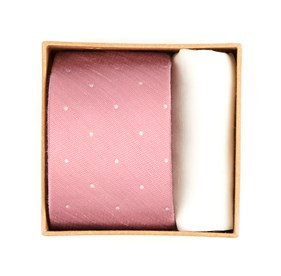 Pink Bulletin Dot Tie Box ties