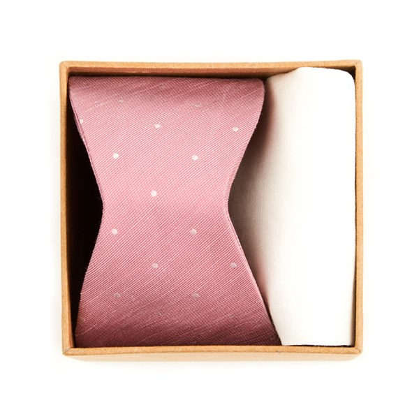 Pink Bulletin Dot Bow Tie Box Gift Set