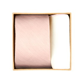 Blush Pink Linen Row Tie Box ties